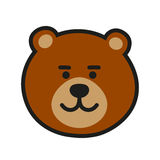 Brown Bear Icon Vector Illustration Stock Photography