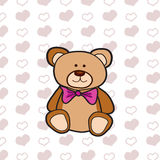 Brown bear illustration on heart pattern. Brown bear on heart pattern Royalty Free Stock Images