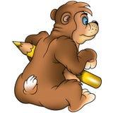 Brown bear painter stock photos
