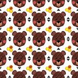Brown bear pattern Royalty Free Stock Image