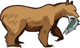 Brown Bear with a Salmon Stock Photos