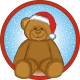 Brown Bear With santa hat Royalty Free Stock Images