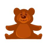 Brown bear soft toy Royalty Free Stock Images