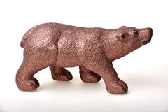 Brown bear. Toy on white background Stock Images