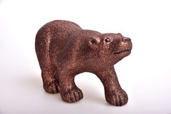 Brown bear. Toy on white background Royalty Free Stock Image