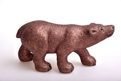 Brown bear. Toy on white background Stock Photo