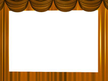 Brown beautiful curtains Stock Images