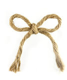 Brown beautiful rope bow isolated on white Stock Photos