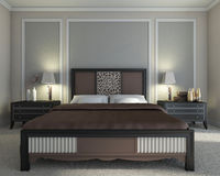Brown bedroom Royalty Free Stock Photo