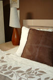 Brown bedroom decoration Stock Photos