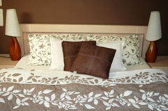 Brown bedroom decoration Royalty Free Stock Photography