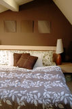 Brown bedroom decoration Stock Images