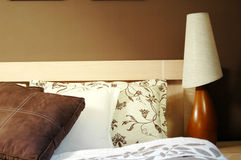 Brown bedroom decoration Stock Image