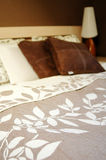Brown bedroom decoration Royalty Free Stock Images