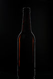Brown beer bottle Stock Images