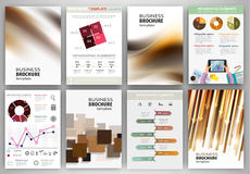 Brown and beige backgrounds and abstract concept infographics Stock Photo