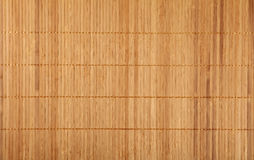Brown beige bamboo wood mat background texture. Beige brown natural wooden bamboo mat background texture with vertical planks, close up Royalty Free Stock Image