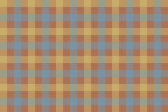 Brown beige blue check fabric texture background seamless patter Stock Image