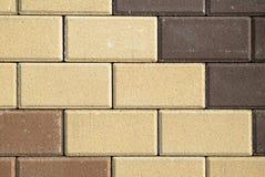 Brown and beige bricks texture Stock Photo