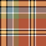 Brown beige check fabric texture seamless pattern. Vector illustration Stock Photo