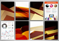 Brown and beige creative backgrounds and abstract concept vector Stock Image