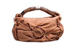 Brown-beige female bag-1 Royalty Free Stock Photography