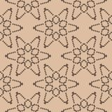 Brown and beige floral seamless pattern. Brown and beige floral ornament. Seamless pattern for textile and wallpapers Stock Image