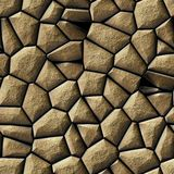 Brown beige gold stony irregular plastic stony mosaic seamless texture background Stock Photos