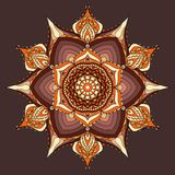 Brown and beige mandala background, wallpaper, colorful card. royalty free illustration