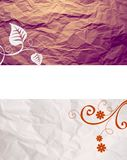 Brown beige paper and swirls Stock Image