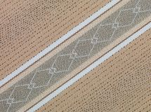 Brown and beige retro fabric texture Stock Photo