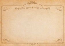 Brown and beige retro style paper background with border Royalty Free Stock Photography