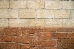 Brown and beige stone wall background texture Stock Images
