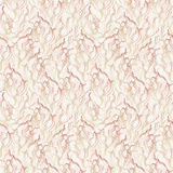 Brown on beige waves and curves seamless pattern v Royalty Free Stock Photos