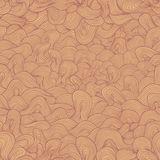 Brown and beige wavy shapes Royalty Free Stock Photos
