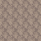 Brown bell-flower pattern. Seamless brown bell-flower floral wallpaper pattern Royalty Free Stock Images