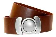 Brown belt Royalty Free Stock Images