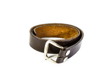 Brown belt isolated Stock Photography