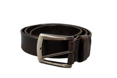 Brown belt isolated Royalty Free Stock Photo