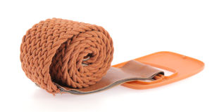 Brown belt Royalty Free Stock Photo