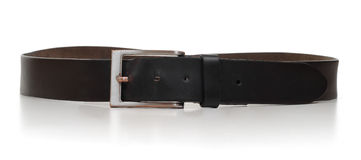 Brown belt white background Stock Image