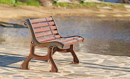 Brown bench Royalty Free Stock Images
