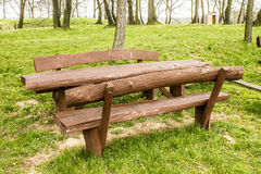 Brown bench Royalty Free Stock Image