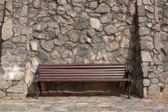 Brown bench Stock Photos