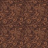 Brown bezszwowy ornamentacyjny wzór dla projekta Obrazy Stock