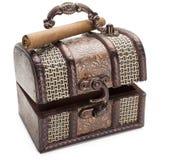 Brown biżuterii papieros i pudełko Obrazy Stock
