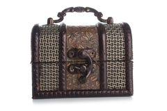 Brown biżuterii pudełko Zdjęcia Royalty Free