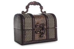 Brown biżuterii pudełko Fotografia Stock