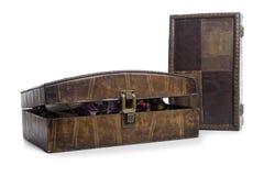 Brown biżuterii pudełko Obraz Stock