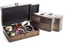 Brown biżuterii pudełko Obraz Royalty Free